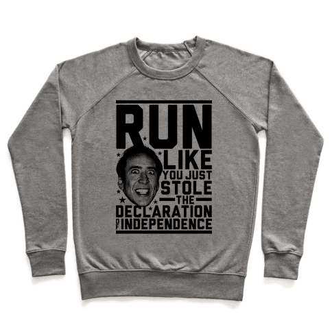 Run Like Nick Cage Pullover