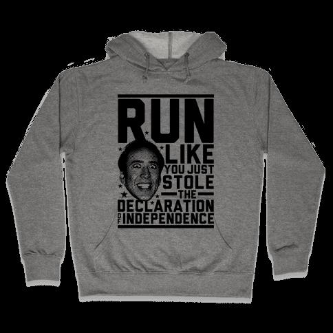 Run Like Nick Cage Hooded Sweatshirt