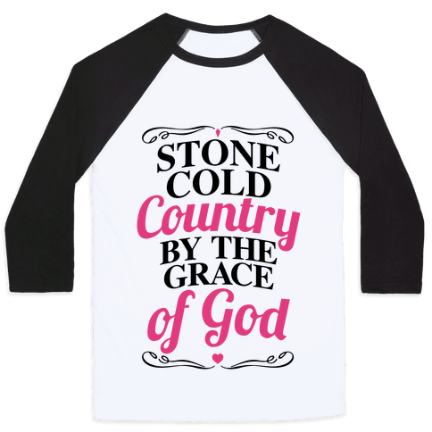 Stone Cold Country Baseball Tee