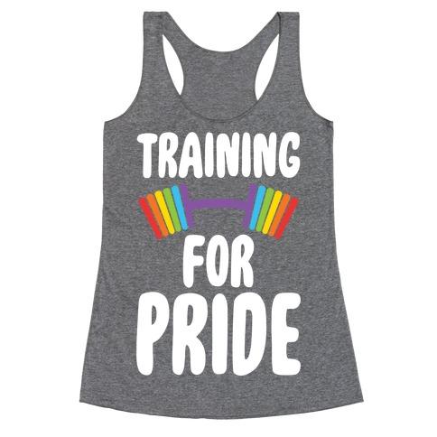 Training For Pride Racerback Tank Top