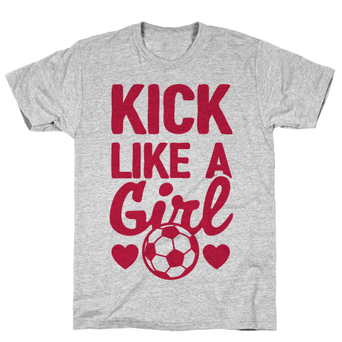 Kick Like A Girl Mens T-Shirt