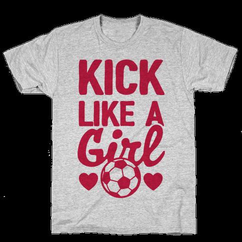 Kick Like A Girl Mens T-Shirt