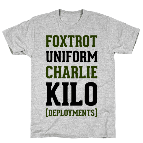 Foxtrot Uniform Charlie Kilo (Deployments) Mens/Unisex T-Shirt