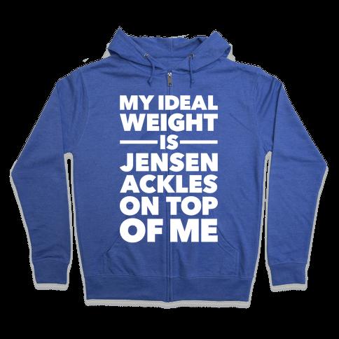 Ideal Weight (Jensen Ackles) Zip Hoodie