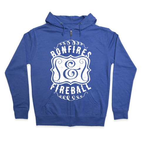 Bonfires And Fireball Zip Hoodie