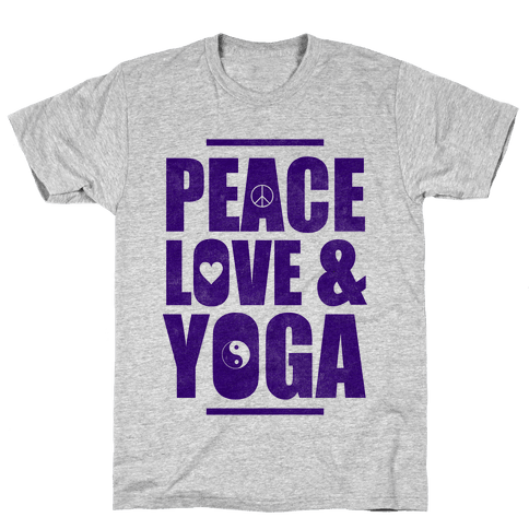 Peace Love & Yoga Mens T-Shirt