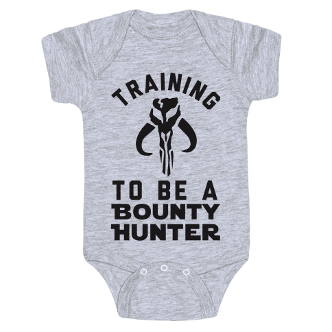 Training To Be A Bounty Hunter Baby Onesy