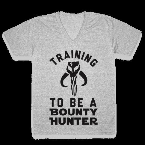 Training To Be A Bounty Hunter V-Neck Tee Shirt