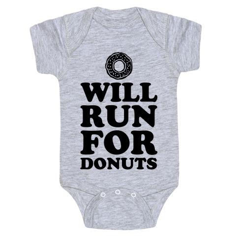 Will Run for Donuts Baby Onesy