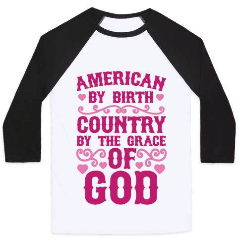 American Country Baseball Tee