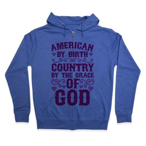 American Country Zip Hoodie