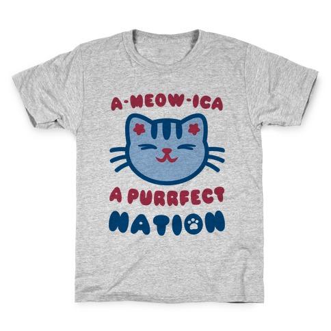 Ameowica (Patriotic Tank) Kids T-Shirt