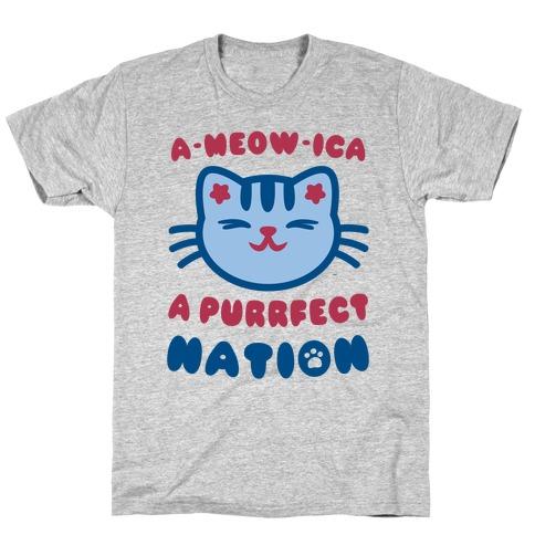 Ameowica (Patriotic Tank) T-Shirt