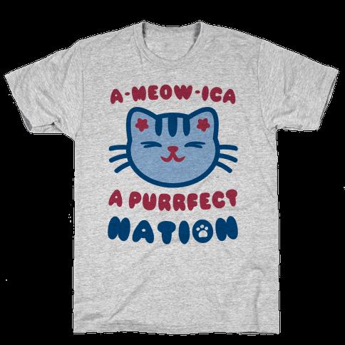 Ameowica (Patriotic Tank) Mens/Unisex T-Shirt