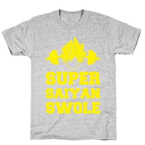 Super Saiyan Swole Mens T-Shirt