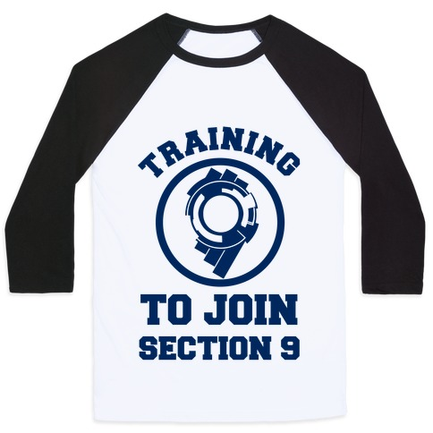 Training To Join Section 9 Baseball Tee
