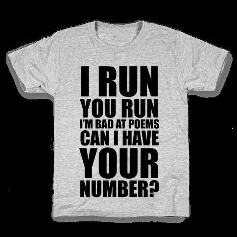 Runner Pickup Line Poem Kids T-Shirt