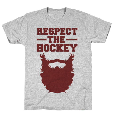 Respect The Hockey Beard Mens T-Shirt