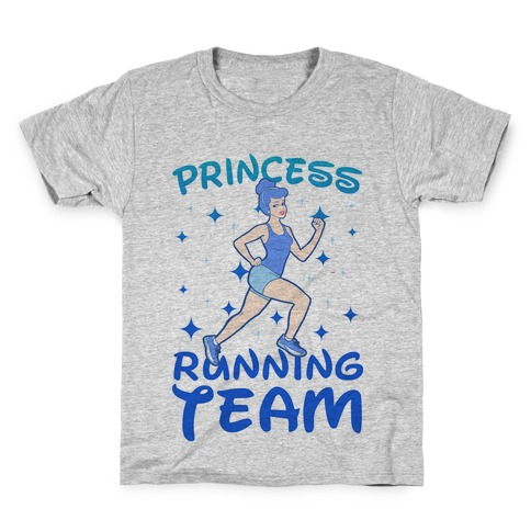 Princess Running Team (Blue) Kids T-Shirt