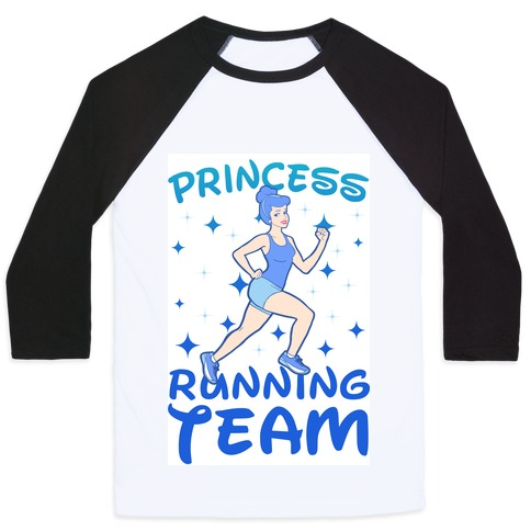 Princess Running Team (Blue) Baseball Tee