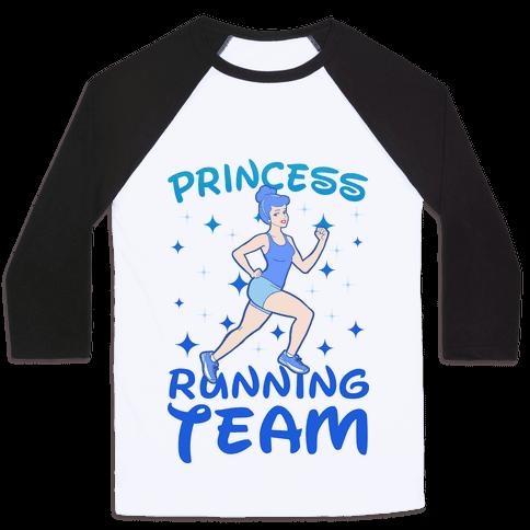 Princess Running Team (Blue) Baseball Tee