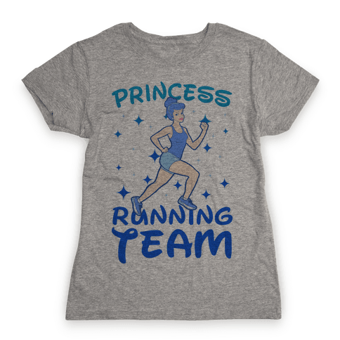 Princess Running Team (Blue) Womens T-Shirt