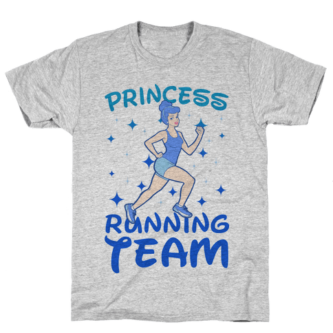 Princess Running Team (Blue) Mens T-Shirt