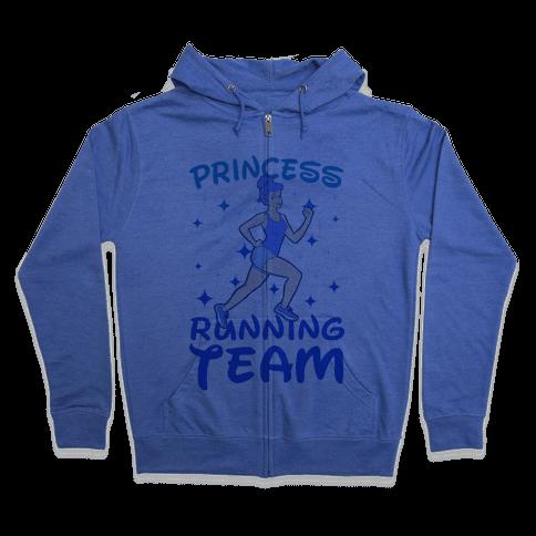 Princess Running Team (Blue) Zip Hoodie