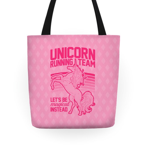 Unicorn Running Team Tote
