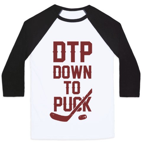 DTP Down To Puck Baseball Tee