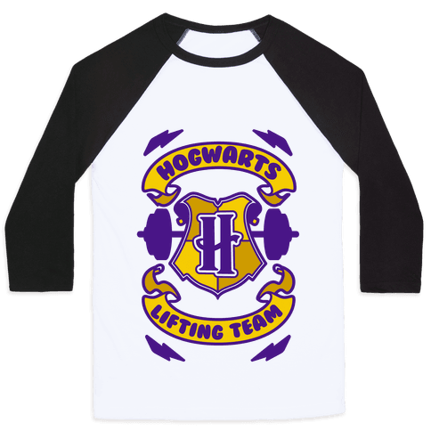 Hogwarts Lifting Team Baseball Tee