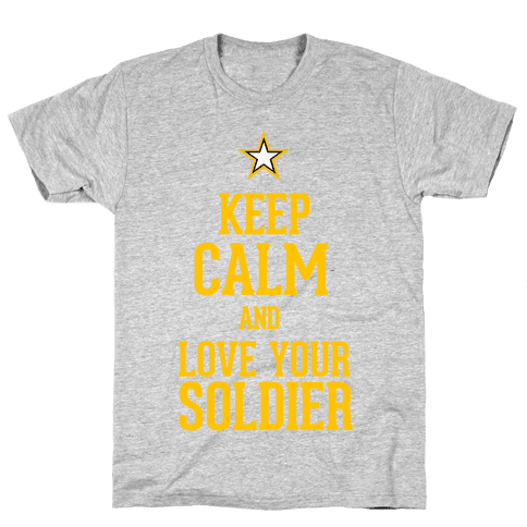 Love Your Soldier Mens T-Shirt