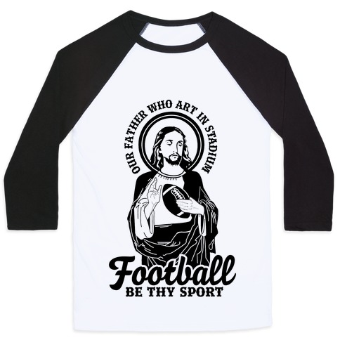Football Jesus Baseball Tee