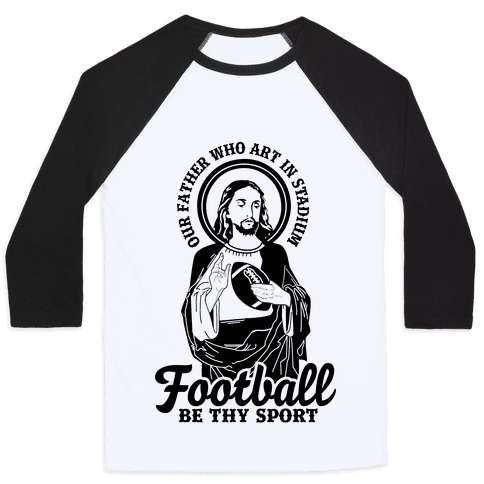 Football Jesus Baseball Tee