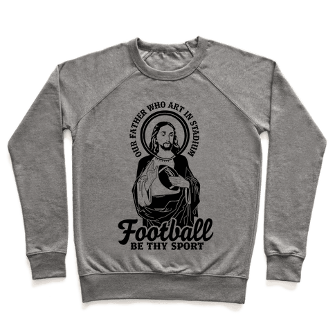 Football Jesus Pullover