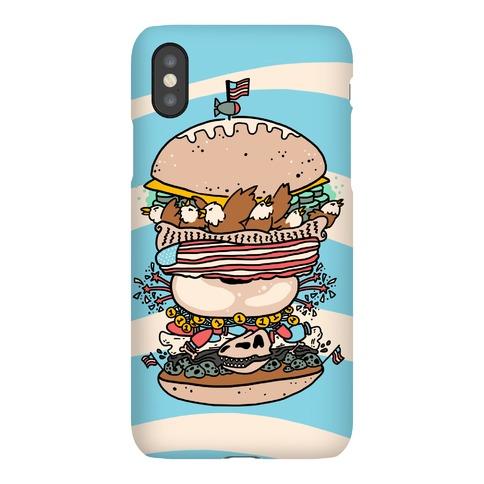 'Merican Double Decker Declaration of Food Freedom Burger Phone Case