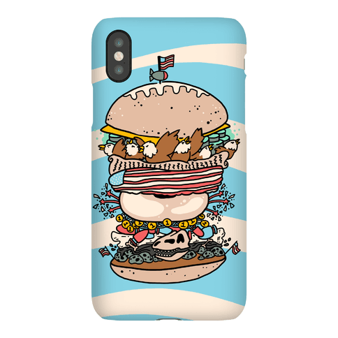 'Merican Double Decker Declaration of Food Freedom Burger Phone Case