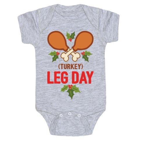 (Turkey) Leg Day Baby Onesy