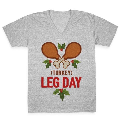 (Turkey) Leg Day V-Neck Tee Shirt