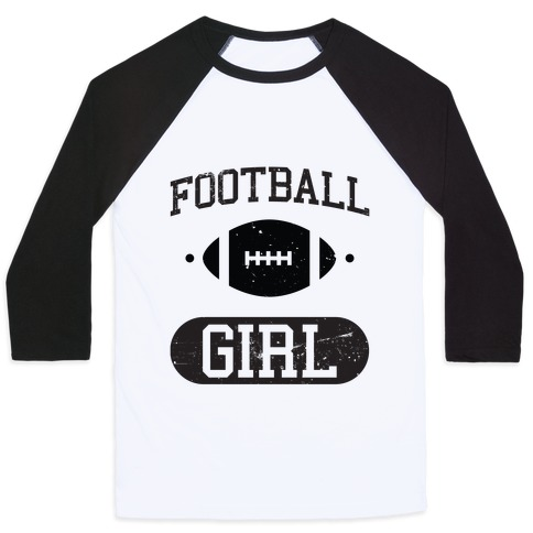 Football Girl Baseball Tee