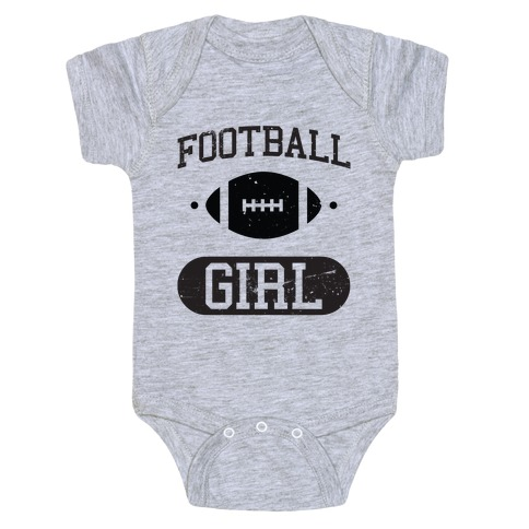 Football Girl Baby Onesy