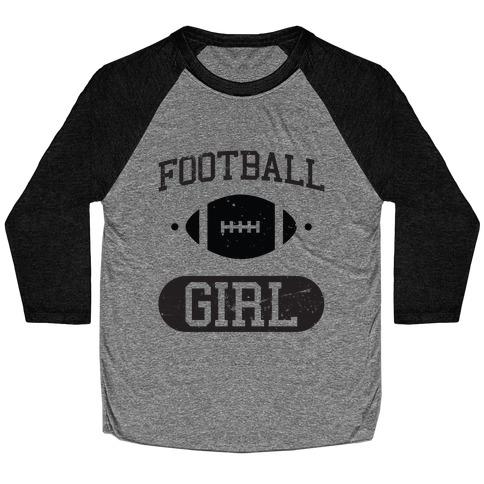 Football Girl Baseball Tee