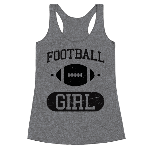 Football Girl Racerback Tank Top