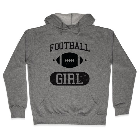 Football Girl Hooded Sweatshirt