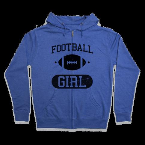Football Girl Zip Hoodie