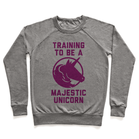 Training to Be A Majestic Unicorn Pullover