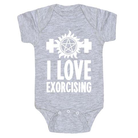 I Love Exorcising Baby Onesy