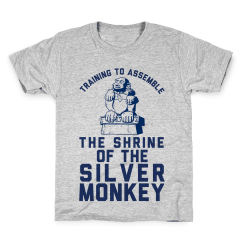 Training To Assemble The Shrine Of The Silver Monkey Kids T-Shirt