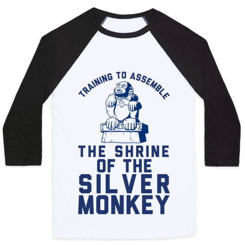 Training To Assemble The Shrine Of The Silver Monkey Baseball Tee