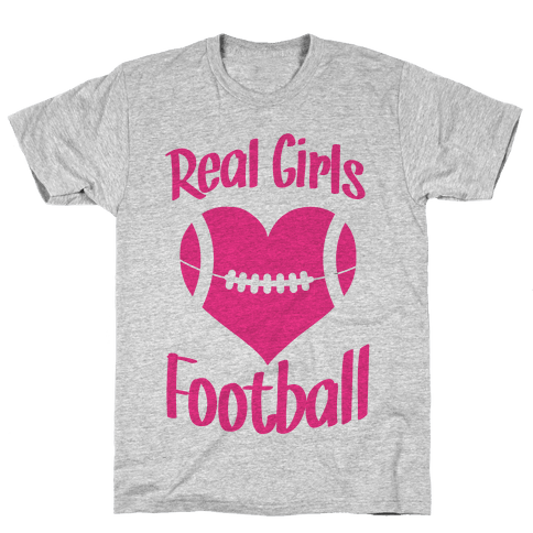 Real Girls Love Football Mens T-Shirt